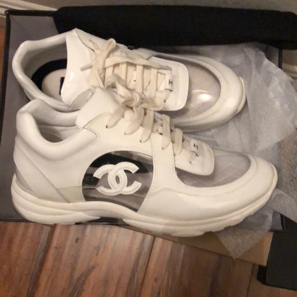 CHANEL Shoes | Clear Sneakers | Poshmark